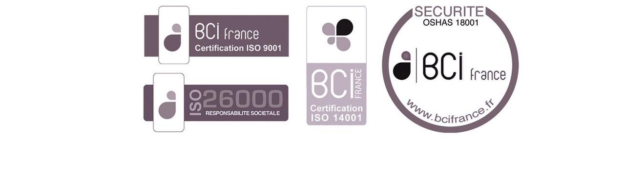 Nos certifications et normes